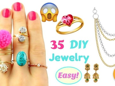 Awesome 35 Easy Crafts Ideas For DIY Jewelry 2018 YOU'LL LOVE  DIY jewelry 2018