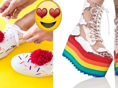 Awesome DIY Clothes! more 3 DIY Shoes Projects DIY Sneakers, Boots, Fashion & More  Amazing 2018