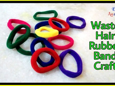 Best Out Of Waste From Hair Rubber Bands Crafts Idea - DIY Home Projects - DIY Arts And Crafts