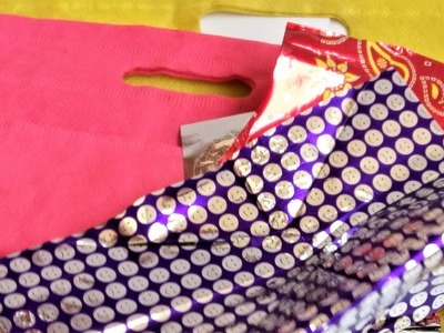 Best reuse idea of gift wrapping paper and fabric carry bags   Best out of waste