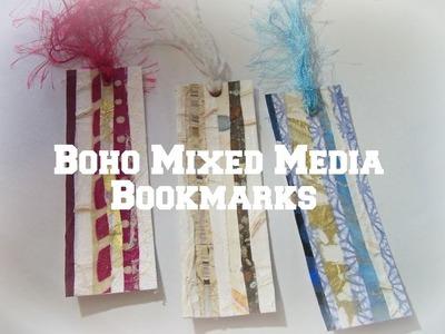 DIY Boho handmade Bookmarks. How to make a  bookmark. how to use handmade paper