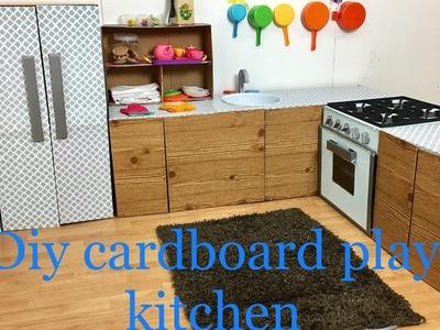 Diy cardboard kids play kitchen part 4.5