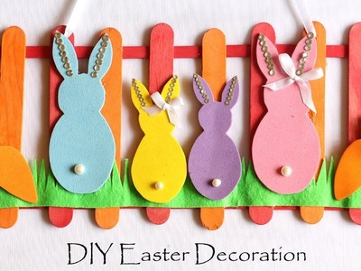 DIY Easter Decorations | Easy Spring Room Decor Ideas | Door. Wall Hanging Easter Bunny