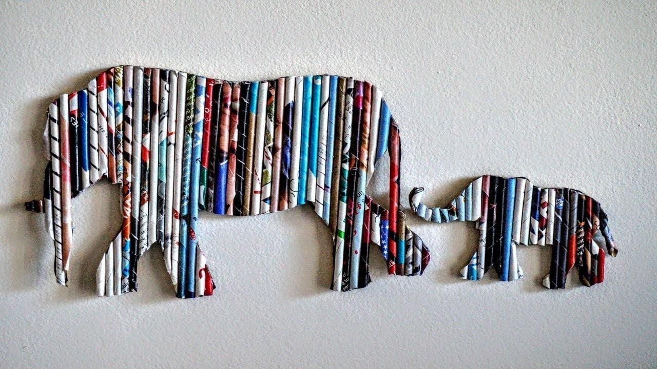 DIY Handmade Wall Decor using Cardboard, Home Decor Wall Art  Elephant Wall Hanging, Art and Craft
