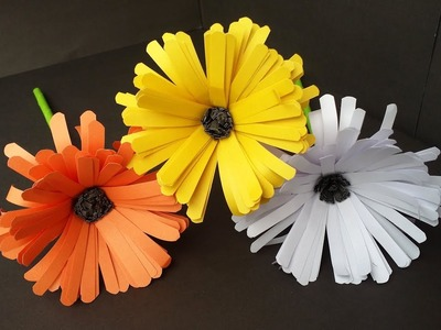 DIY: How to Make Easy & Beautiful Aster Flower With Colour Paper!!! Flower Tutorial.