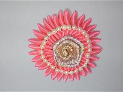 DIY-HOW TO MAKE RIBBON FLOWER