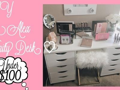 DIY :  How To Make the Ikea Alex Vanity Desk♡