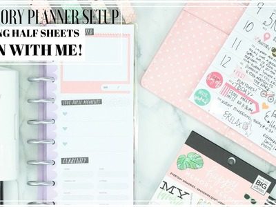 DIY MEMORY PLANNER Using HP Half Sheets & Cannon Selphy Printer + PLAN WITH ME!