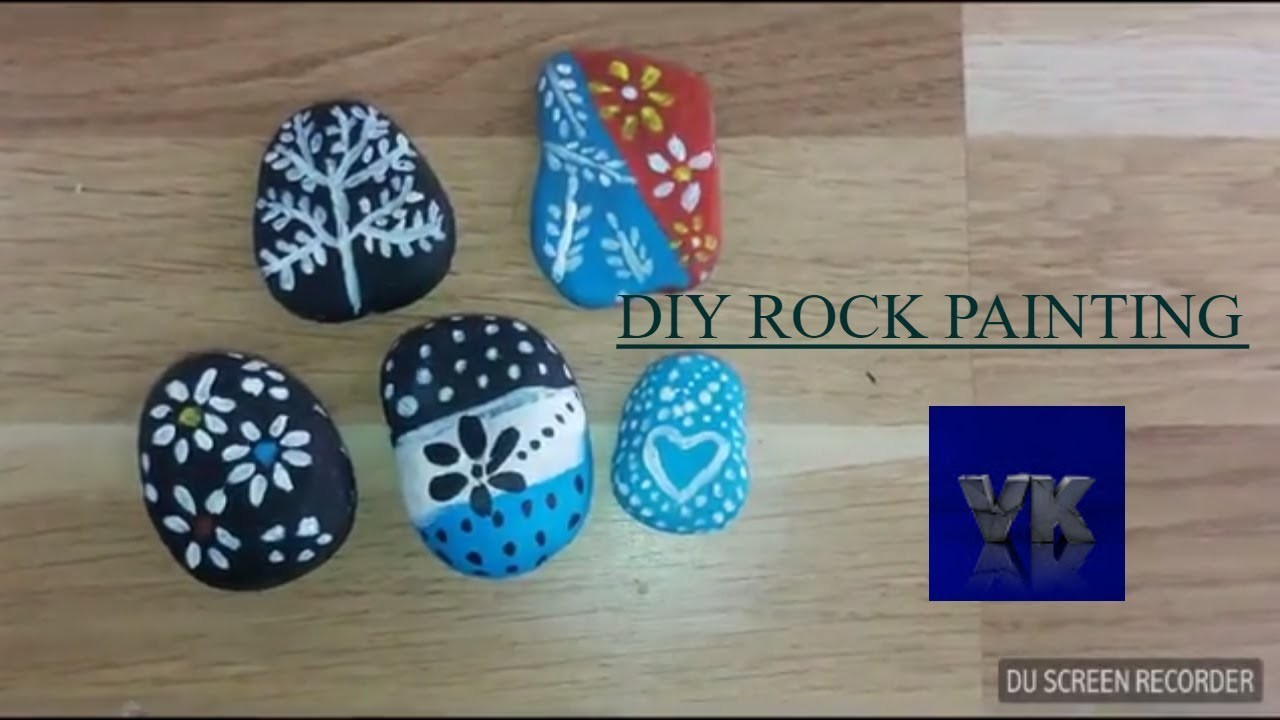 DIY ROCK PAINTINGSIMPLE AND EASY ROC PAINTING IDEAS
