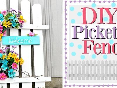 ???????? DIY Spring Porch Decor | Picket Fence Decor | Spring Wood Crafts ????????