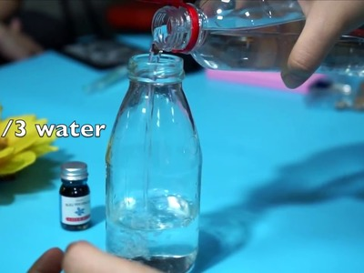 (DIY STYLE)Make a beauty glass bottle gift by yourself -Step by Step Instructions