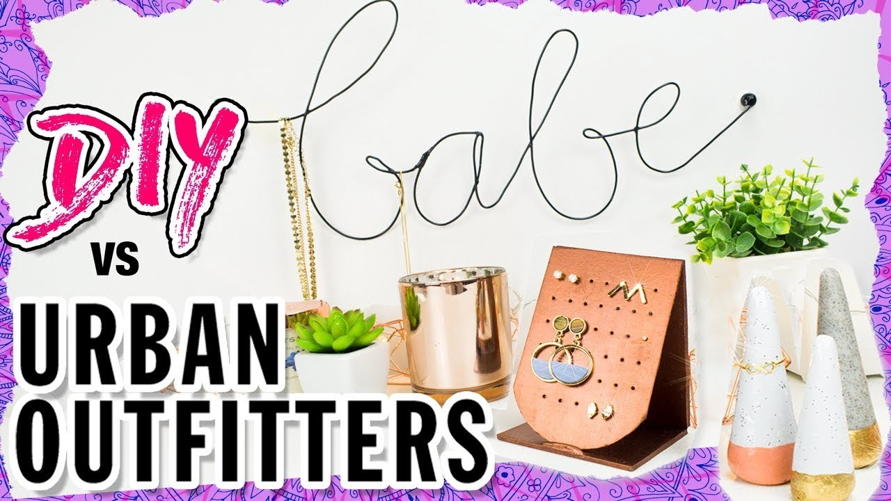 DIY vs URBAN OUTFITTERS! CHEAP Jewelry Organizer Ideas ???? ???? Wall Hook, Earring & Ring Holder!