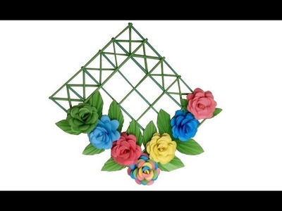DIY- Wall Decoration Ideas With Paper Flowers - Home Decoration With Paper Crafts -