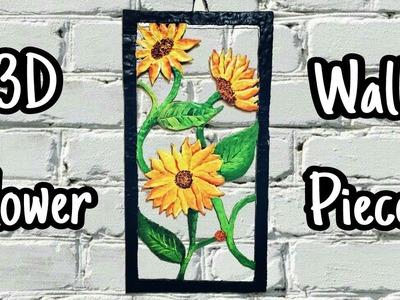 DIY Wall Showpiece Idea from Cardboard and Clay    Home Decor Wall Art    Craft Ideas   