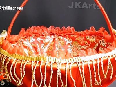 DIY Wedding Gift Basket  | How to make Basket for Trousseau Packing | JK Arts 1365