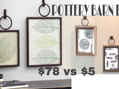 Dollar Tree Wall Art DIY | Pottery Barn Dupe DIY