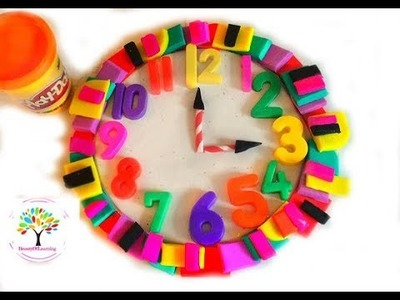 #Dolls Toys Play Doh Clock Play and Learn Colors PlayDoh Video for Kids