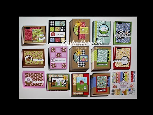 Doodlebug Design's Down on the Farm - 40 cards from one 6x6 paper pad