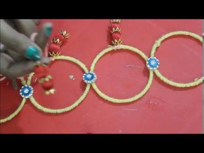Door  hangings with bangles.diy.best to waste