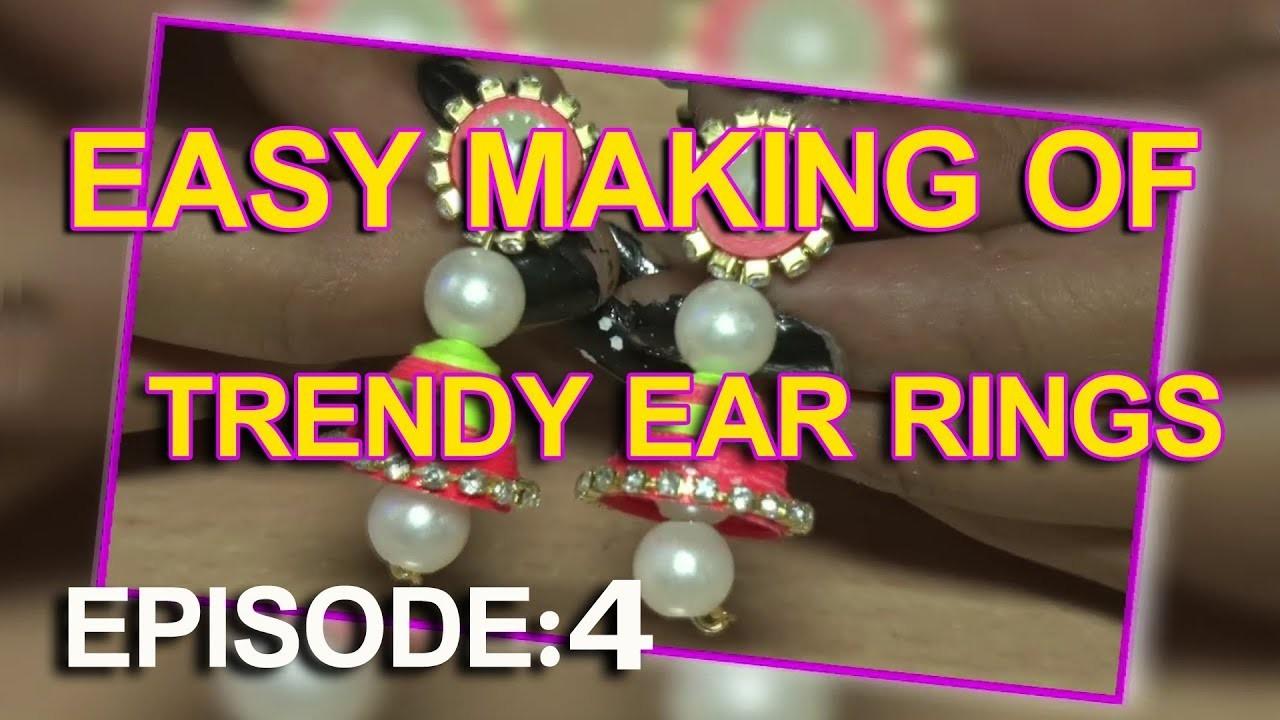 Easy Crafts #4   Simple Making Of Cute Paper Earrings   Kai Tv Media