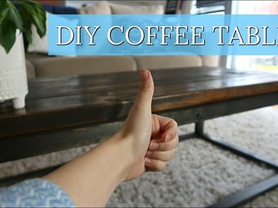 EASY DIY COFFEE TABLE   CRAZY UNEXPECTED DAY