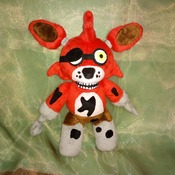 Five nights at freddys Foxy plush, commissioned plush, stuffed monster toy, toy from kids drawing