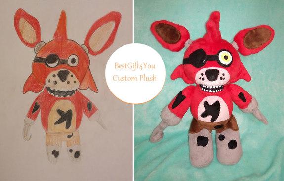 Five Nights At Freddys Foxy Plush Commissioned Plush Stuffed