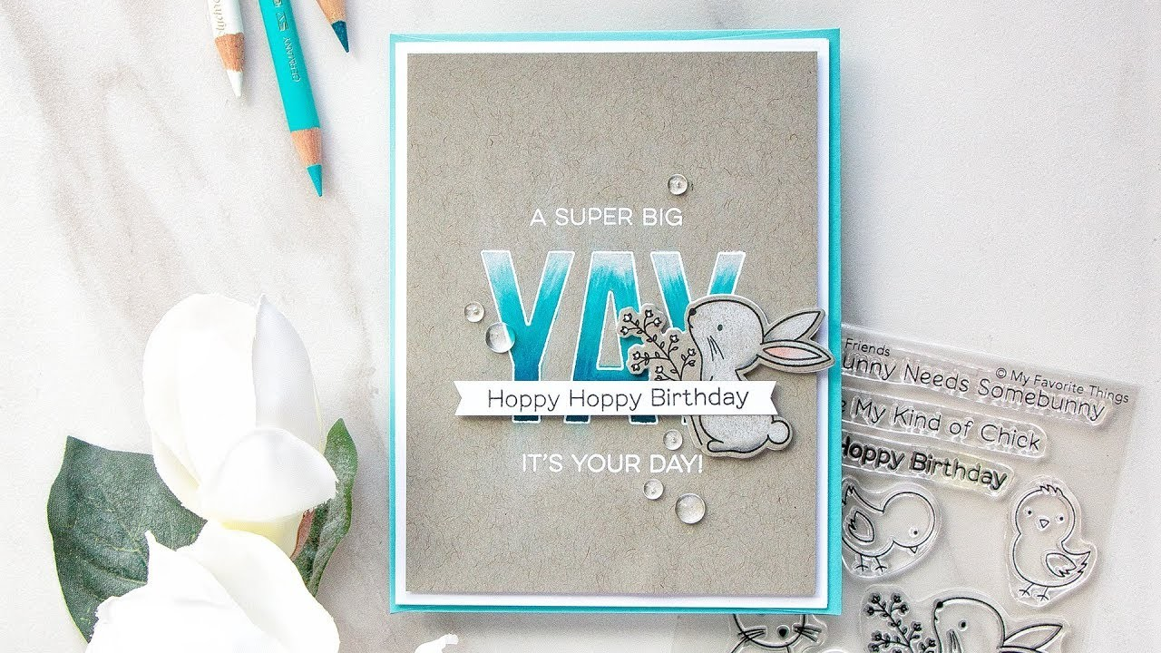 Hoppy Birthday | Colored Pencils on Toned Gray Paper with Yana Smakula