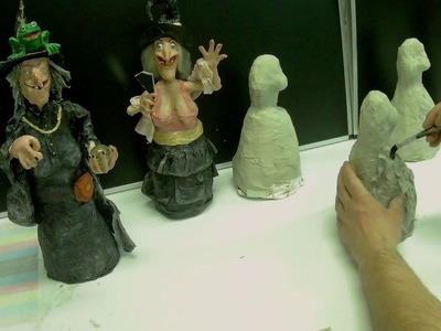 How to make a halloween paper mache witch - part 1.