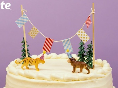 How to Make DIY Cake Toppers for Birthdays ????| Evite DIY