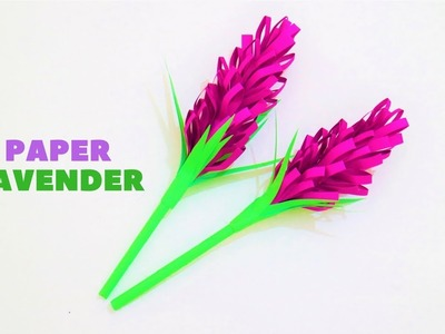 How to make paper lavender flower easily - origami craft Tutorial