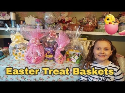 How to Wrap Easter Treat Baskets | 4 different baskets & 1 Cello wrapped gift