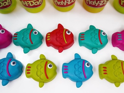Learn Number & Learn Colors Play Doh Fish Surprise Toys Kids Diy How To Make for children