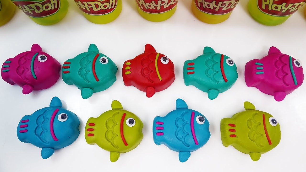 Learn Number & Learn Colors Play Doh Fish Surprise Toys Kids Diy How ...