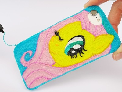 My Little Pony Fluttershy iPhone Case DIY| Making Phone Case with 3D Pen