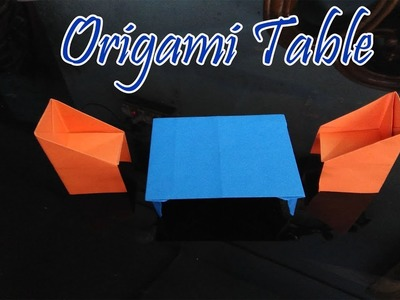 Origami Table making video easy with colour paper