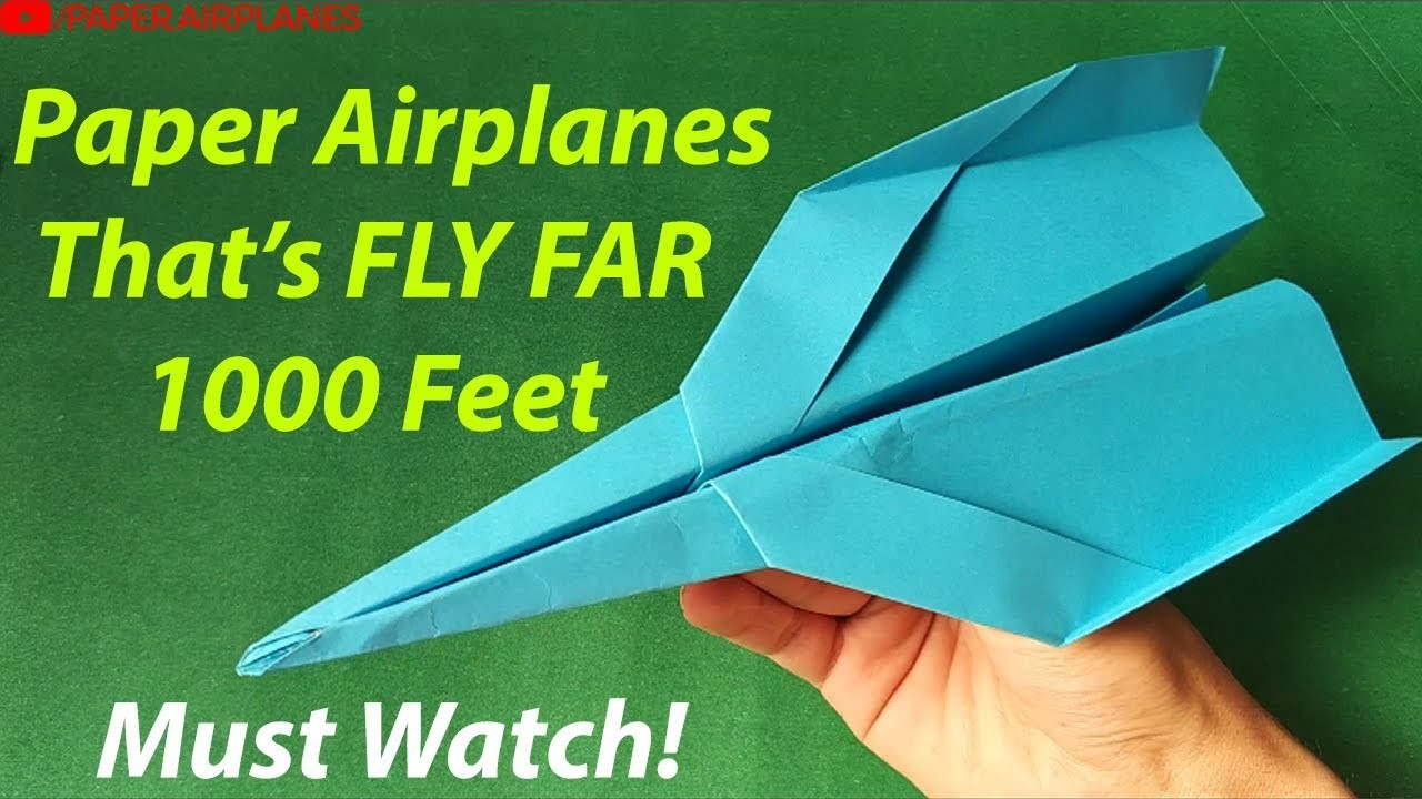 paper airplanes that fly far how to make a paper airplane step 2