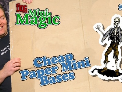 Paper and cardstock mini bases - how to make cheap and reusable stands for paper minis DMGMM#010