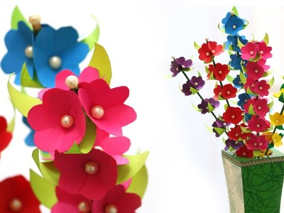 Paper flowers sticks.multicolour flowers. Beautiful Bunch of Flowers