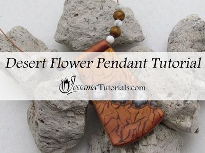 Polymer clay Desert Flower Necklace Tutorial