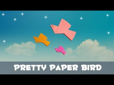 Pretty Paper Bird-how to make origami paper bird.tutorial by D Crafts