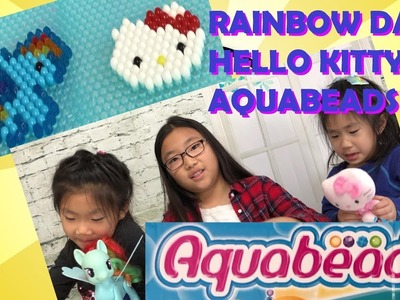 Rainbow Dash and Hello Kitty made with AquaBeads