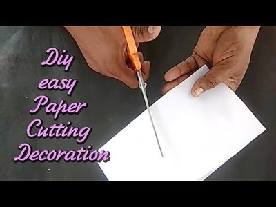 Simple Paper cutting Design easy DIY