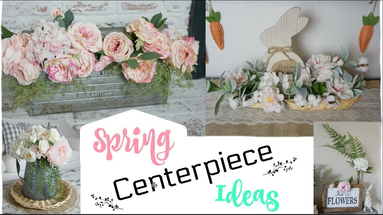 SPRING CENTERPIECE IDEAS | DIY IDEAS USING GOODWILL ITEMS | Momma from scratch