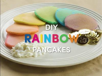 St. Patrick's Day DIY Rainbow Pancakes!