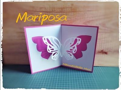 Tarjeta Pop Up Mariposa - DIY - Butterfly Pop Up Card