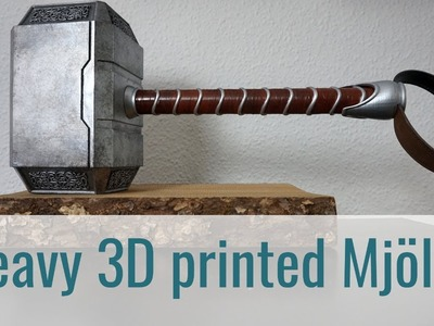 5.5 kg Thors Hammer (Mjölnir) filled with concrete!. 3D printed