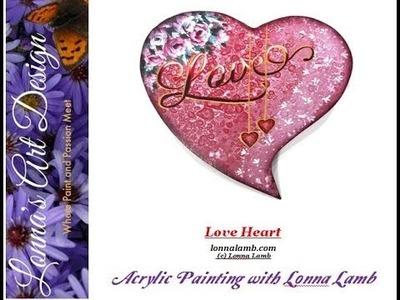 Acrylic Painting Tutorial Love Heart