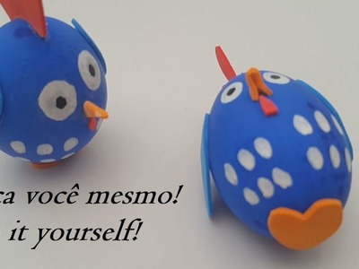Artesanato com ovo. Crafts with egg.