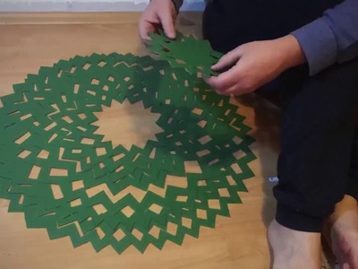 Christmas tree ideas. A christmas tree from a single piece of cardboard